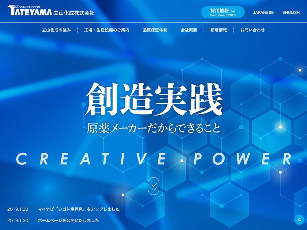 プロヴィデザイン ホームページ制作実績:立山化成
